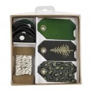 Xenos Cadeau inpakset kerst - zwart/groen