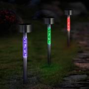 4 db napelemes LED Mia buborék lámpa világítás színváltós 24 cm