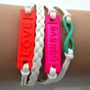 Believe & Love-armband – Colors