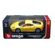 Ferrari F430, Yellow Bburago 26008 1/24 Scale Diecast Model Toy Car