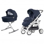 Inglesina kolica 2u1 Trilogy duo Imperial blue city white