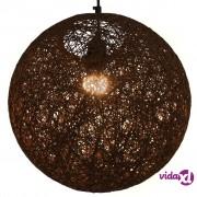 vidaXL Viseća svjetiljka smeđa kuglasta 35 cm E27