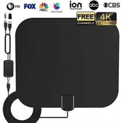 ICEDB Hdtv Antenna, HD Digital Indoor TV Antenna, 60-85 Miles Long Range Support 4K 1080P and All OLDER & Digital TV Free Local TV Channels-19ft Coax Cable