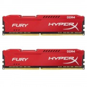 DDR4, KIT 16GB, 2x8GB, 2666MHz, KINGSTON HyperX Fury Red, CL16 (HX426C16FR2K2/16)