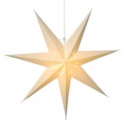 Seven-pointed, white paper star Katabo