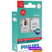 Philips LED Vision P21W Vermelho 12839REDX2 ( 2 Lâmpadas )