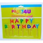 Gyertya, születésnapi, betűs, Happy birthday (PT62056)