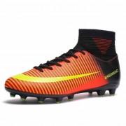 Hoge top antislip Wearable en comfortabele voetbalschoenen Soccer cleats voor mannen schoenmaat: 7 (lange spikes zwart oranje)
