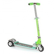 Rocks Kids Three Wheel Scooter with Tractor Wheels (Green)