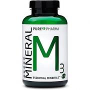 PurePharma M3 300mg Organic Magnesium 15mg Organic Zinc 11mg of Vitamin B6 300mg Malic Acid 120 Capsules Per Bottle