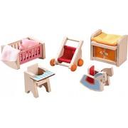 "HABA Little Friends Children's Nursery Room - Dollhouse Furniture for 4"" Bendy Dolls"