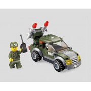 Soldier Military Defense Vehicle Series Building Bricks Toy Set 96pc Educational Blocks Compatible To Lego Parts Great Gift For Children