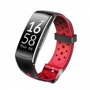 Bratara fitness smart RegalSmart Q8-169 bluetooth, Android, iOS, OLED 0.96 inch, IP68 submersibilia, heart rate, rosu