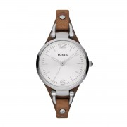 Fossil Zegarek FOSSIL - Georgia ES3060 Dark Brown/Silver/Steel