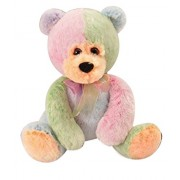 The Petting Zoo Frosted Rainbow Tip Dye Teddy Bear - 8 Inches