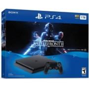 Consola Sony PlayStation 4 Slim 1TB + Star Wars Battlefront II (Negru)
