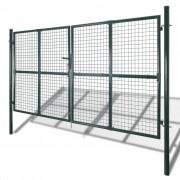 vidaXL Tuinpoort modern hekwerk 289 x 175 cm / 306 x 225 cm (donkergroen)