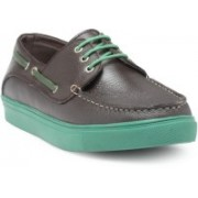 Hats Off Accessories Genuine Leather Boat Shoes Casuals For Men(Brown)