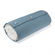 Kave Home Cobertor almofada Roll, azul