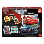 Superpack Cars 3 - 2 x puzzle, memo game, domino