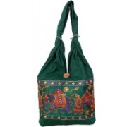 Womaniya Girls Green Shoulder Bag