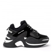 Naked Wolfe Sneaker Naked Wolfe Track in pelle e tessuto nero