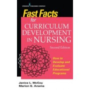 Fast Facts for Curriculum Development in Nursing: How to Develop and Evaluate Educational Programs, Second Edition