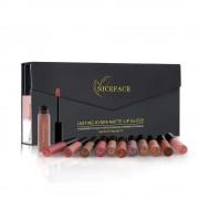 Nieuw Lipstick Kleur Vrouwen Mode Voelen 12 Stks/set Make Matte Lipstick Lipgloss Potlood Schoonheid Langdurige Lip Coloring Niceface