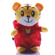 Ondream Speaking Tiger Daniel Neighborhood Tigers for Kids Talking Animal Tiger Plush Toys Stuffed Electronic Tiger Girls Boys Birthday Christmas (Red)