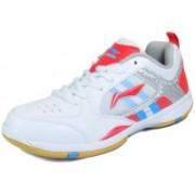 Li-Ning Star Icon-1 Badminton Shoes(White, Red)