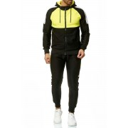 OneRedox Jogging Suit Sport Set Tracksuit Pants & Hoodie Sweater Yellow A04C 59003-1