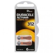 Baterii pentru aparate auditive Duracell ZA 312 Zinc Aer set 6 baterii