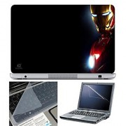 FineArts Laptop Skin 15.6 Inch With Key Guard & Screen Protector - Iron Man Side
