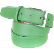 Herrengürtel Leder Grün C89 - Grün Größe 95