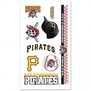 Pittsburgh Pirates Official MLB 4 inch x 7 inch Temporary Tattoos by Wincraft