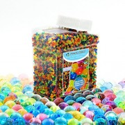 PROLOSO Water Beads, (20000 Pack) Crystal Water Gel Bead Rainbow Mix Used For Kids Tactile Toys - SensoryToys, Vase Filler, Soil, Plant decoration, Bamboo Plants