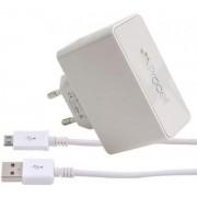Incarcator Retea Procell Dual USB, cablu MicroUSB inclus, 2.1A (Alb)