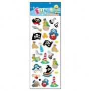 Merkloos 72x Piraten stickertjes voor kinderen