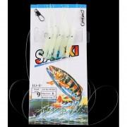 5pcs/Pack Professional simular Camarones Rigs Resplandor en la oscuridad Cebos Señuelos de pesca