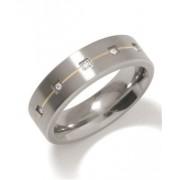 Boccia Titanium Snubní titanový prsten s diamanty 0101-19 62 mm