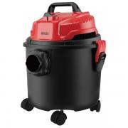 Прахосмукачка MUHLER MV-1520 Wet&Dry, 1200W, 15 литра, Сухо и мокро почистване, Черен/червен