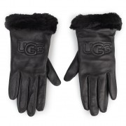 Дамски ръкавици UGG - W Classic Leather Logo Glove 19034 Black