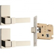 Spider Zinc Concealed Latch with Latch Body Lock Set with Chrome Plated with SS Finish ( KBL + ZZ32CBCS)