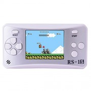 Bornkid Kids Retro Handheld Game Console with Built in 168 Classic 80's Old Video Games Portable Gaming Player Boy Arcade System Playstation Unique Gift for Children (Silver)
