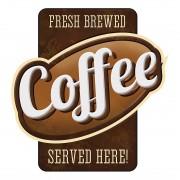 Wandafbeelding Coffee served here