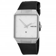 NEOS Saphirglas Armbanduhr In Schwarz & Weiß