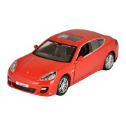 Tingoking RMZ City Die Cast Porsche Panamera Turbo, Red/Black (5-inch)