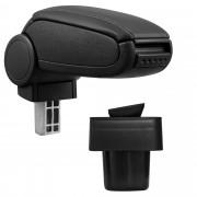 Středová loketní opěrka - vhodná pro: Suzuki Swift (od 2005, Typ MZ/EZ) - umělá kůže - Černá s černými švy