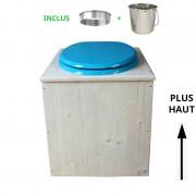 Toilette sèche - La Bleu turquoise inox - rehaussée