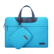 15.6 inch Cartinoe Business Series Exquisite Zipper Portable Handheld Laptop Bag with Independent Power Package for MacBook Lenovo and other Laptops Internal Size:36.5x24.0x3.0cm(Blue)